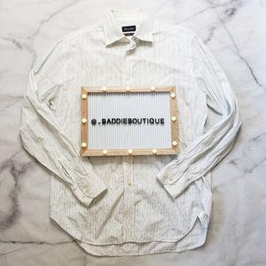 Massimo Dutti striped dress button up shirt